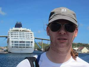 Jeroen Massar in Willemstad, Curacao