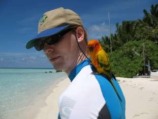Jeroen Massar in Vilamendhoo, Maldives